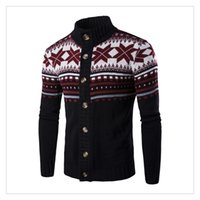 acrylic computer stand - Men s Sweaters Autumn winter Fashion Stand Collar National Wind Embroidery Men s Casual Thicken Cardigan Sweaters US Size XS L