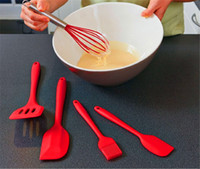 Wholesale 100 Food Grade Piece Heat Resistant Cooking Utensil Set Non Stick Silicone Baking Utensil Set for Easy Baking