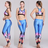 Wholesale Women Fashion Sportwear USA Elastic Jogging Yoga Suit Gym Breathable High Waist Tracksuit Fitness Exercise Sexy Two Piece Set