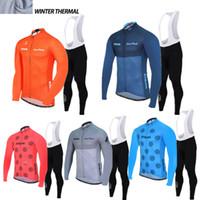 bib riding pants - 2016 Strava Men Winter thermal Fleece cycling clothing long sleeve Pro cycling jersey bib long pants winter cycling clothes hombre Riding