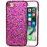 apple paste - Glitter Ultra Thin Shimmering Powder Paste Skin Luxury Plastic Case Cover for Samsung S7 Edge for Iphone7 plus Phone Cases Back Cover