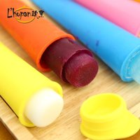 Wholesale summer DIY juice milk ice cream sticks silicone mold rainbow color choice set cool gift for children