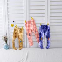 Wholesale NEW ARRIVAL girls Kids leggings tights child Cotton cartoon rabbit print dots pants causal elegant girl child trousers