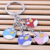 angry of birds - 2016 New lovely Angry angry birds keychain keyring in fashion key chain set a string of bag car key charm pendant trinket gift