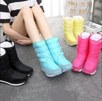 Wholesale 2016 New Winter Warm Non slip Waterproof Snow Boots In The Snow Boots In Cotton Boots Women s