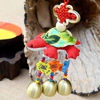 al por mayor moda nacional verde-Nacional de moda populares de tortuga verde colgante de tela tailandesa de tortuga colgante estilo popular Dongba Campanula mano de bienes de animales de automóviles al por mayor