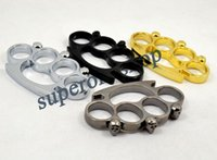 Wholesale 1PCS Silver Gold Knuckle duster belt buckle F S THICK CHROMED KIRSITE BRASS KNUCKLES DUSTERS Boxing Protective Gear