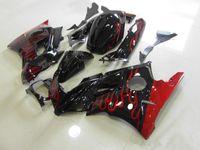 Revisiones 91 carenados honda cbr-Tres regalo hermoso libre y nuevas placas de carenado del ABS de la alta calidad para HONDA CBR600 91-94 CBR 600 F2 1991 1992 1993 1994 negro rojo