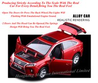Wholesale 1 Alloy Diecast Metal Car Model For LEXUS RX350 Collection Pull Back Toys Car With Sound Light Red