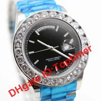 Wholesale Luxury Gold Diamonds Watch Men Stainless Mother of Pearl Dial Diamond Bezel Automatic WristWatch AAA Watches