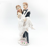 Wholesale The Wedding Dolls Cake Is An Adornment Crystal Ball The Bride And Groom Ceramic Plastic Wedding Couples Doll Wedding Accessories
