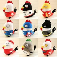 american chickens - Christmas Fowl Plush Toys Totoro Chicken Superman Dolls Batman Captain American Ironman Cartoon Toys Chrismas Gifts inch Plush Toys D283