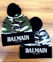 Wholesale Top Quality Brand BALMAIN Paris Beanie Hat Hip Hop Cap Winter New Street Knitted Toucas Acrylic Solid Hats for Women Men