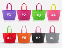 new candy color reusable eco friendly shopping tote bag pouch non woven environment safe multi color - Buy Candy By Color