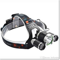 ac torches - 6000Lm Cree XM L T6 LED Headlight Torch Rechargeable Headlamp Head Light Lamp kit with AC charger DHL free