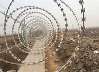 Wholesale BTO Hot Dipped Galvanized Razor Barbed Wire High Tensile Wire for Protect Fencing and Industrial Use