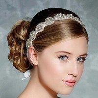 anchor hair accessories - Cheap Fashion Crystal Flower Party Wedding Hair Accessories Bridal Headband Tiara Headwear Silver Bridal Crown Headbands