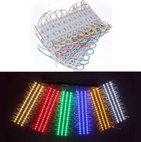 0.72W 3 Leds SMD 5050 Led Módulos RGB Led Pixel Modules Impermeable 12V Retroiluminación Para Channer Letra WW R G B Y