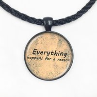 animals reason - Glass Dome pendant Quote necklace everything happens for a reason pendant necklace Art photo glass dome necklace