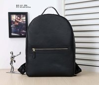 backpack english - Leather backpack backpack large travel bag leather contracted fashion bags leisure business English backpack head skin