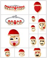 Wholesale New beads for jewelry making DIY golden Christmas hat beads European Cute emoji alloy beads