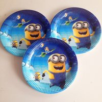 Wholesale set Minions Plate Birthday Party Supplies Cartoon Theme Minions Party Decoration Festival Favor Children s Party
