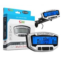 Wholesale SD A Waterproof Bike Computers LED Wired Bicycle Speedometers Digital Cycle Odometers with Retail Package