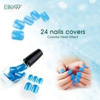 Wholesale Elite99 False Nail Tips Press On Manicure Beauty Nail Art No Glue Needed Choose Color
