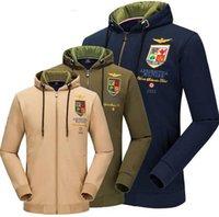 air force hoodies - Men Aeronautica Air Force One Hoodie Embroidery Logo Men Swag Military Plane Pilot Cotton Hoodie Sweatshirt Jacket