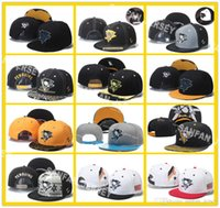 Wholesale 12 Colors Pittsburgh Penguins Snapback Men s Hats Embroider Team Logo Sports Adjustable Ice Hockey Caps Hip Hop Flat Visor Hat Free shi