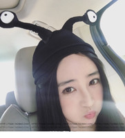 Wholesale With two insect antenna cap Benie Skull Cute caps Fall and Wnter Thick Warm Female Girls Fashion High Quality