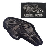 applique stitch machine - 50 US Army REBEL SCUM Star Trek Tactical Badge Hook Loop Embroidery Badges Military Morale Patch Appliques Patches free ship