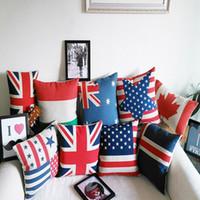 Wholesale Fashion Cotton and linen Cover Pillow slip Pillow case Cover Home Sofa Car Décor Magic Pillow Cover A0746