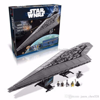 Wholesale BLOCKS Star Wars Execytor Super Star Destroyer Model Building Kit Minifigure Block Bricks Compatible Toy Gift same style