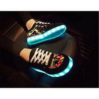 art tables for adults - 2015 Fashion Fluorescent LED Shoes USB Charging light up Sneakers For Adults Unisex LED Luminous Shoes Men women Casual Shoes High Quality