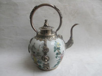ancient china homes - Exquisite Chinese Classical ancient China four most beautiful women Tibetan silver ceramic teapot