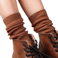 Mejores botas de las mujeres al por mayor España-El cargador al por mayor-Mejor vendedor de las mujeres 1Pair en calcetines del tubo vendimia que hace punto los calentadores Jan23 de la pierna de los calcetines que hacen punto