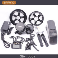 Wholesale 8fun bafang V W C965 BBS02 mid crank drive motor ebike kit V Ah lithium ion Bottle ebike battery Fedex Shipping