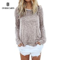 Wholesale Fashion Lady Knitwear Women Casual Sweater Autumn Winter Knitted Tops Plus Size Patchwork Pullover Sweater Women Blusa