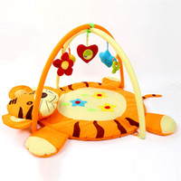 Wholesale 2017 New Cartoon tiger Baby Cotton Play Mat infant plush Rugs Educational Carpet Babies Game Musical Toys