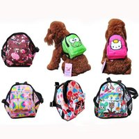 Wholesale 2017 Fashion Size Color Nylon Pet Dog Carrier Backpack Pet Dog Cat Carrier Bag Any dog harness