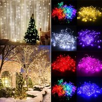 Wholesale LED String Curtain Light LED Icicle Wall Lights V V Indoor Starry Lights Mode For Easter Wedding Christmas Holiday Home Decor