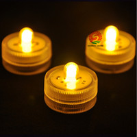 battery floating candles - 2016 Festive party supplies Underwater LED Candles Lights floating Tea Light Waterproof Candle Battery Night Light seven color