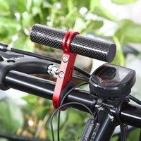 Wholesale New Fiber Bike Bicycle HandleBar Extender Mount Lamp Bracket Outdoor Sports MTB Flashlight Holder Colors New Arrival B