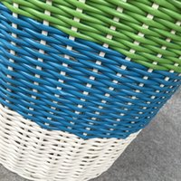 Wholesale Storage Baskets Japanese - Ins Storage Baskets Bins Kids Room Toys Storage basketful Bucket Clothing Organizer Laundry basketful PP imitation rattan stripe