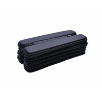 Wholesale E Cigarette Case Mini Longer Small Bag Zipper case for ego evod Electronic Cigarette kit Black Color