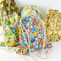 Wholesale New Travel Cosmetic Bags High Capacity Make Up bags Drawstring Wash Bags Makeup pikachu bags Storage Bags A0448