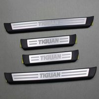 aluminium door sill - Original Entry Strip Protective Foil With Lettering Aviation Aluminium Car Welcome Pedal door sill For Volkswagen Tiguan