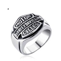 Wholesale 2017 stainless steel biker motocyle ring hight quality hip hop men s jewelry for