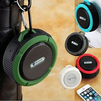 Wholesale C6 Waterproof Bluetooth Speaker Portable Wireless Audio Player Suction Cup For iPhone Samsung S7 S6 edge